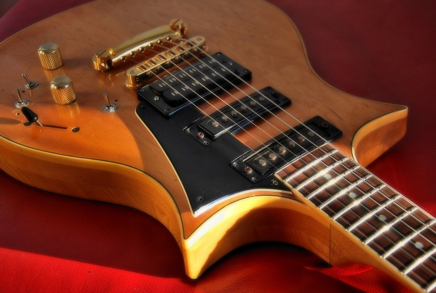 beautiful solidbody electric guitar
