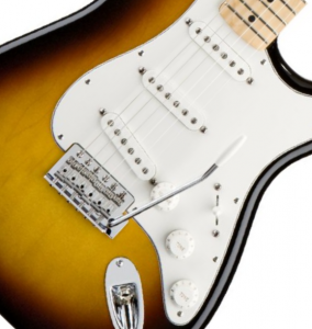fender standard stratocaster closeup