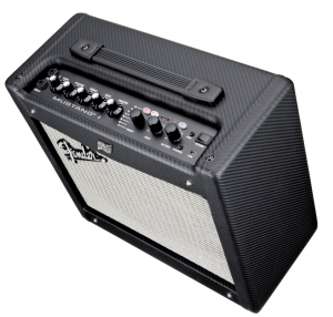 black and silver fender mustang