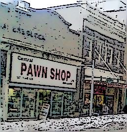 image of quaint downtown and pawn shop