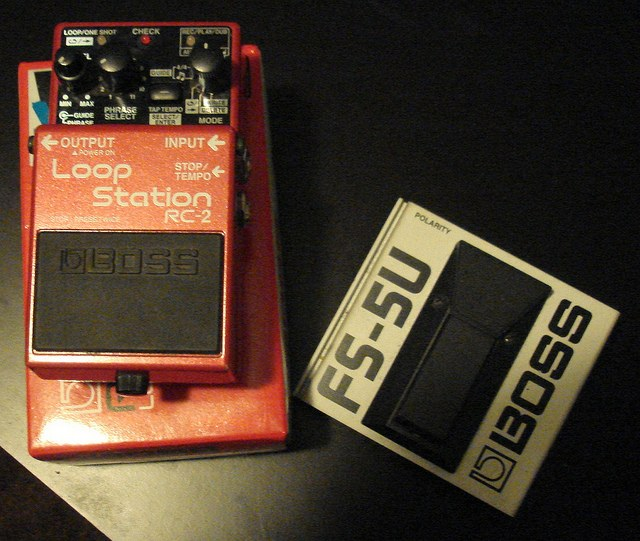 image of boss rc3 looper right before I gig