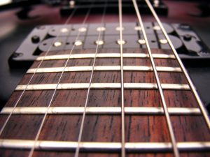 a closeup of the best electric guitar strings
